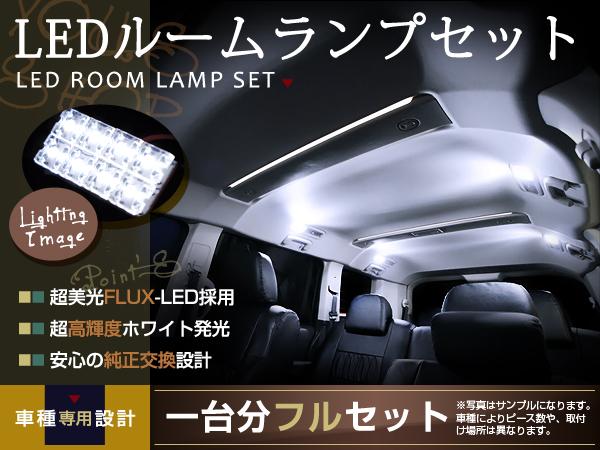 LEDルームランプセット N-BOX/NBOX/Nボックス JF1系 H23.12〜 28発/3P ホンダ FLUX 室内灯 ホワイト 白 ルーム球 車内ランプ 取付簡単