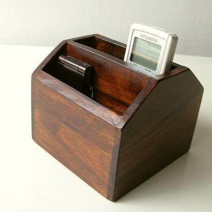 リモコンスタンド 天然木 リモコンラック リモコン収納 木製 小物入れ リモコンボックス リモコンケース シーシャムリモコンBOX