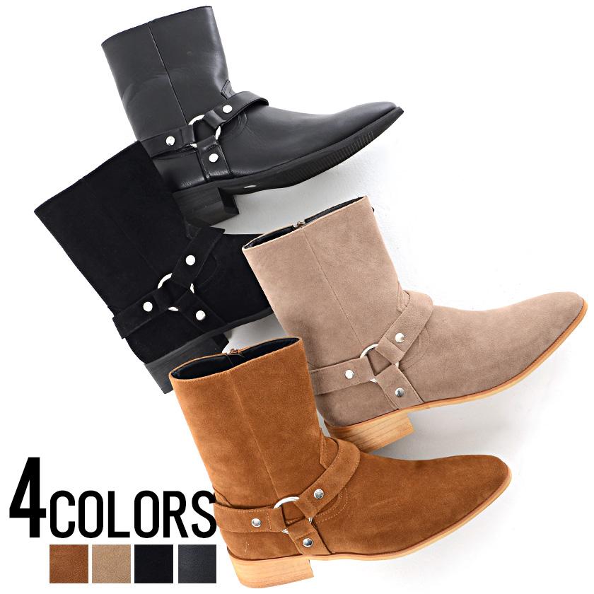 靴 ブーツ メンズ SB select シルバーバレットセレクト サイドジップリングブーツ 即日発送 靴 メンズ シューズ ブーツ ヒールブーツ サ